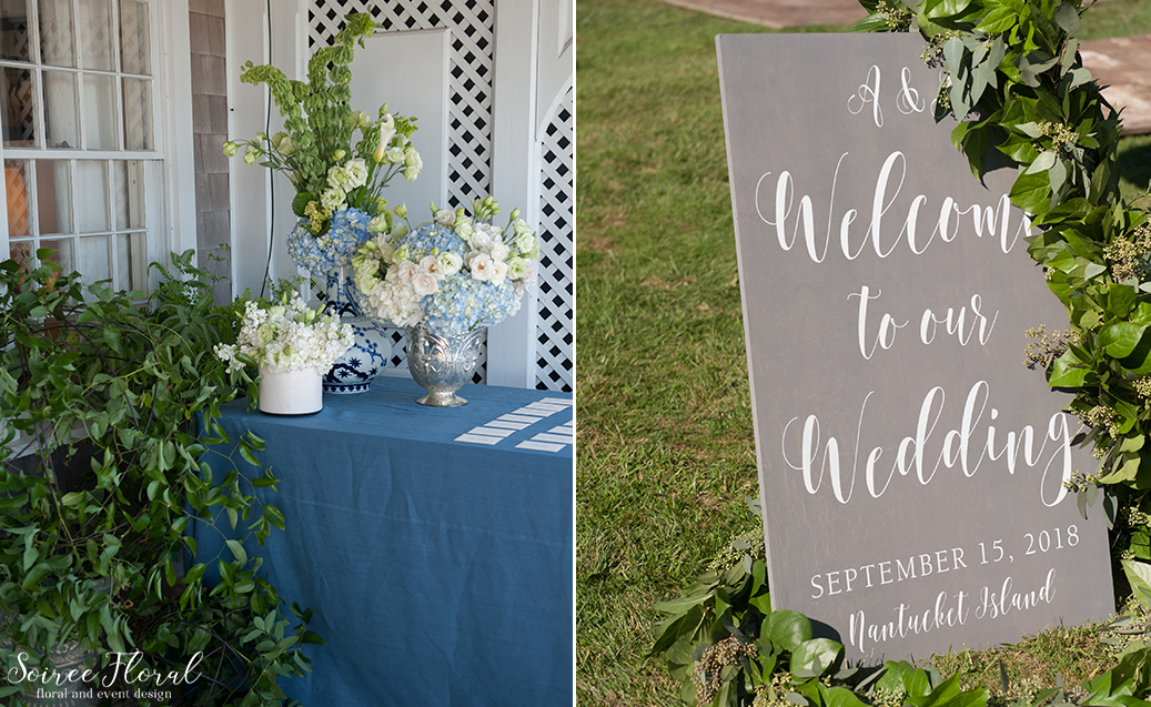 Blue and White Wedding at Wauwinet – Nantucket – Soiree Floral 12