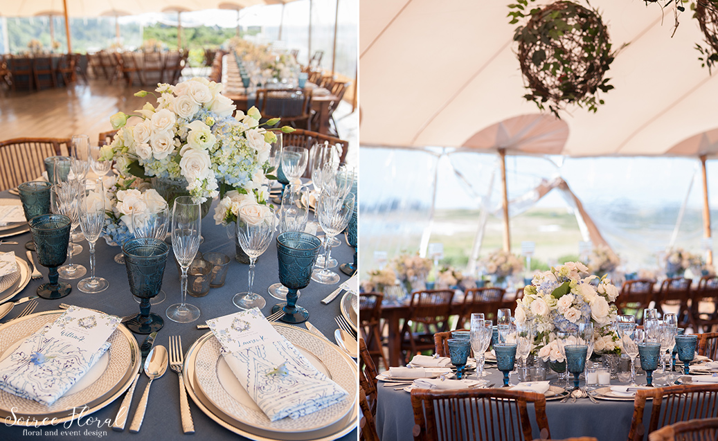 Blue and White Wedding at Wauwinet – Nantucket – Soiree Floral 21