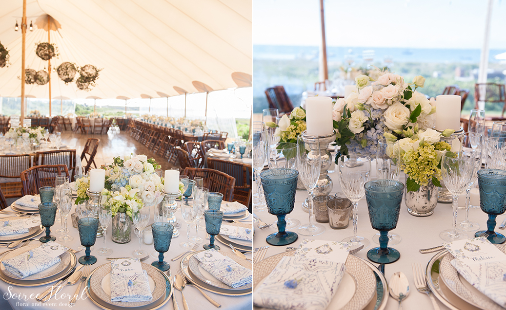 Blue and White Wedding at Wauwinet – Nantucket – Soiree Floral 24
