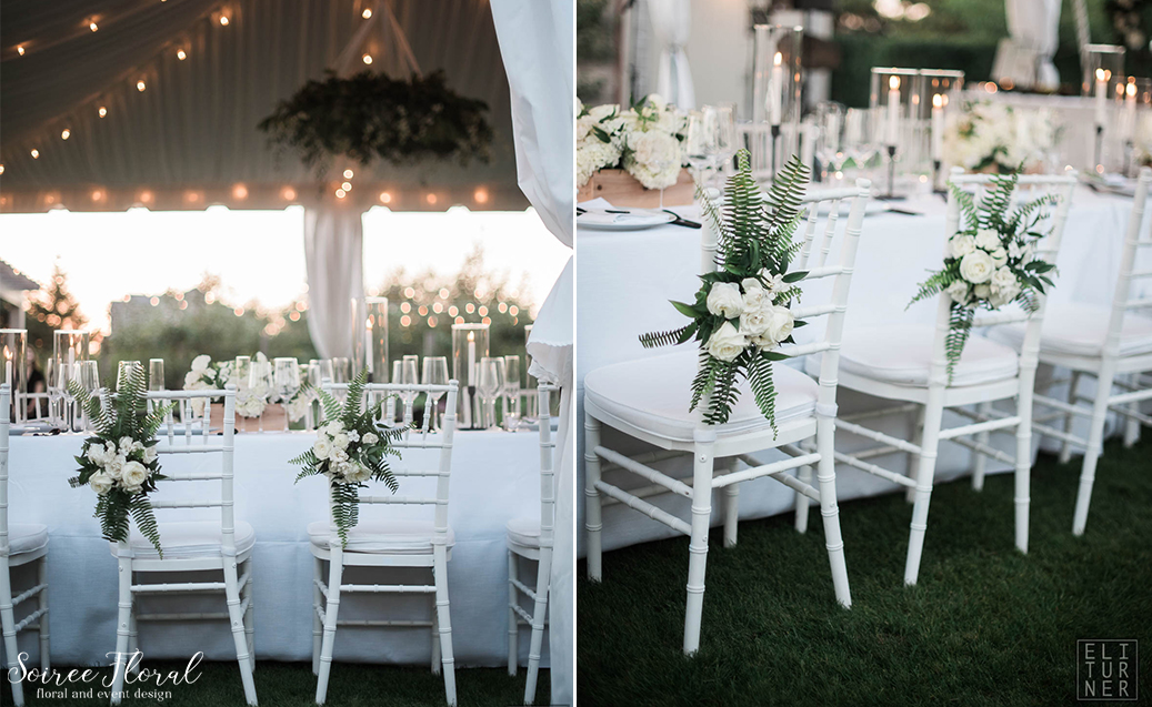 Green White and Black Wedding – Nantucket – Soiree Floral5
