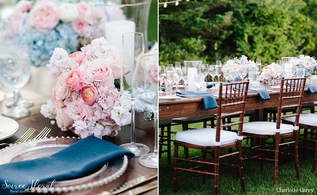 Initmate Pink and Blue Nantucket Wedding 3