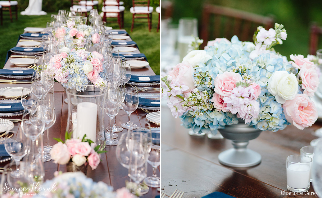 Initmate Pink and Blue Nantucket Wedding 4