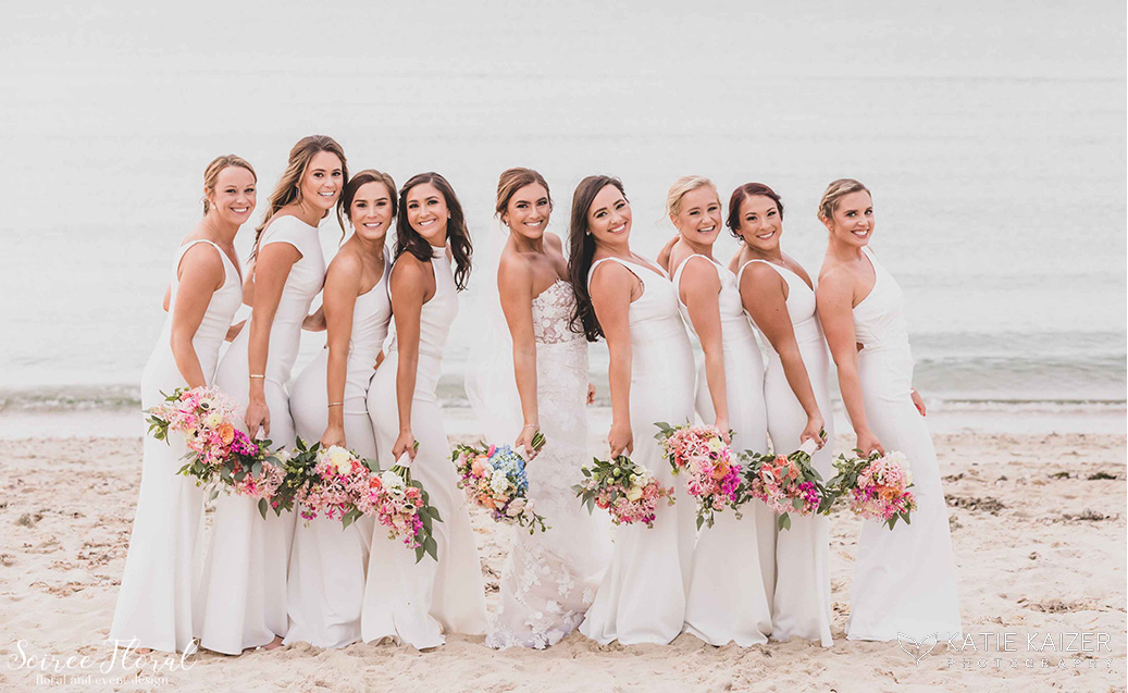 Nantucket bride bridesmaids Galley Beach