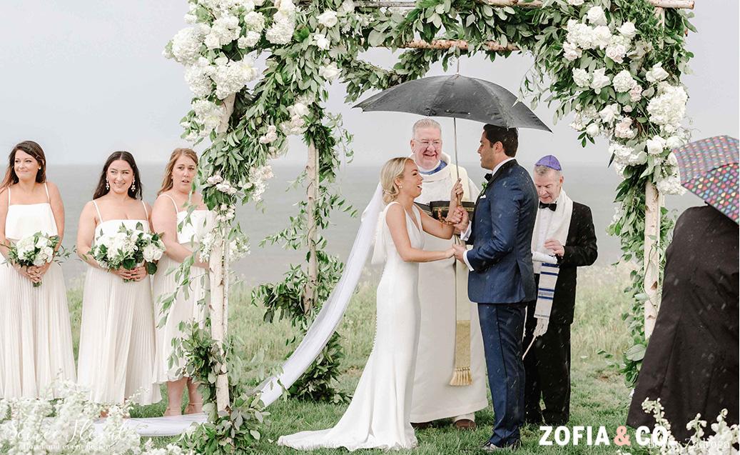 Nantucket outdoor wedding trellis