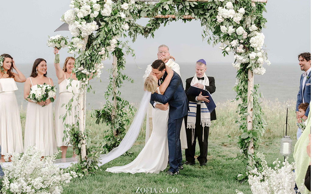 Outdoor Wedding Birch Chuppah