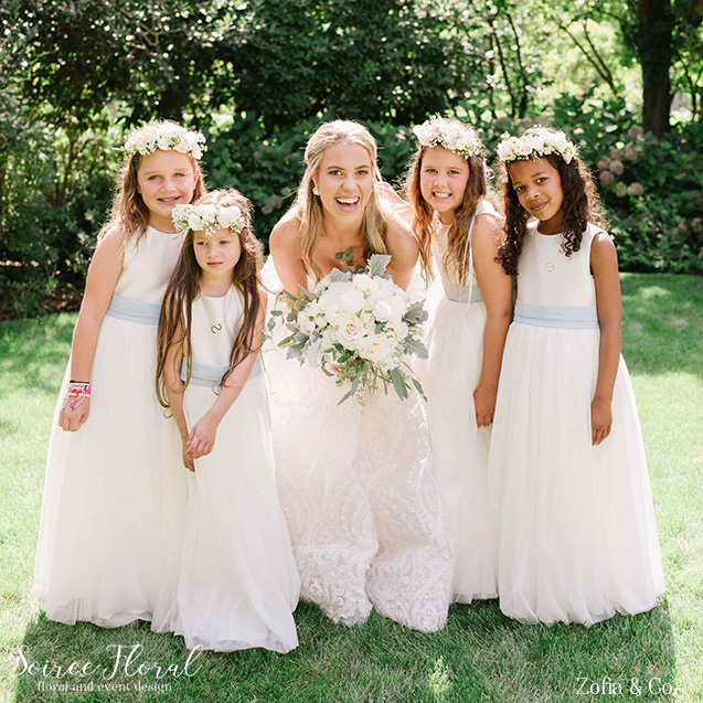 bridal bouquet flower girls