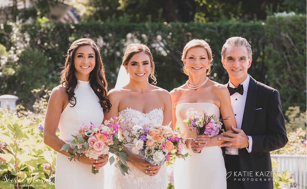 bride bridesmaid bouquet nantucket