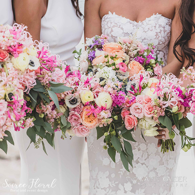 colorful nantucket bridal bouquet