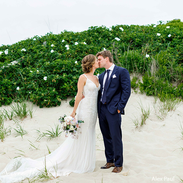 summer nantucket wedding bridal bouquet