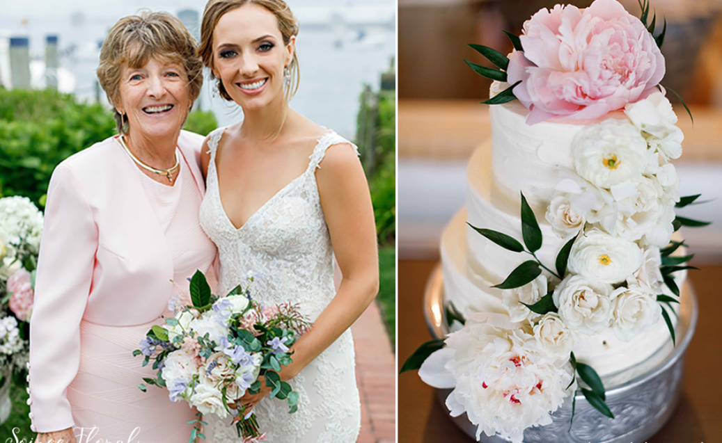 Bridal bouquet cake