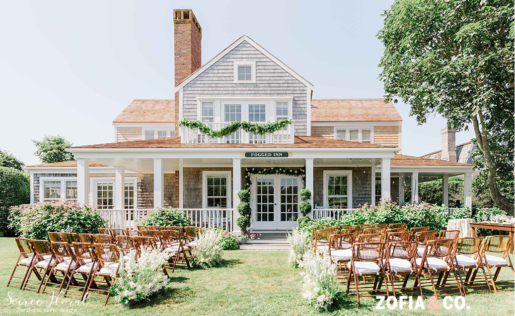 Sconset Nantucket Garden wedding