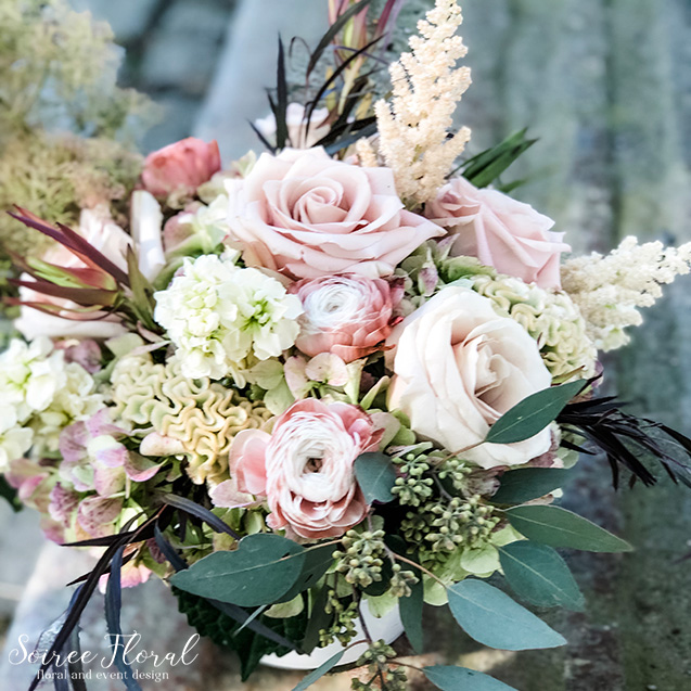 blush beige green centerpiece daily nantucket delivery