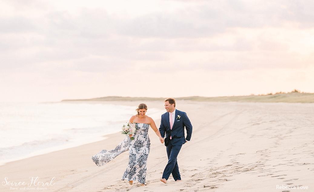 bride groom blue dress