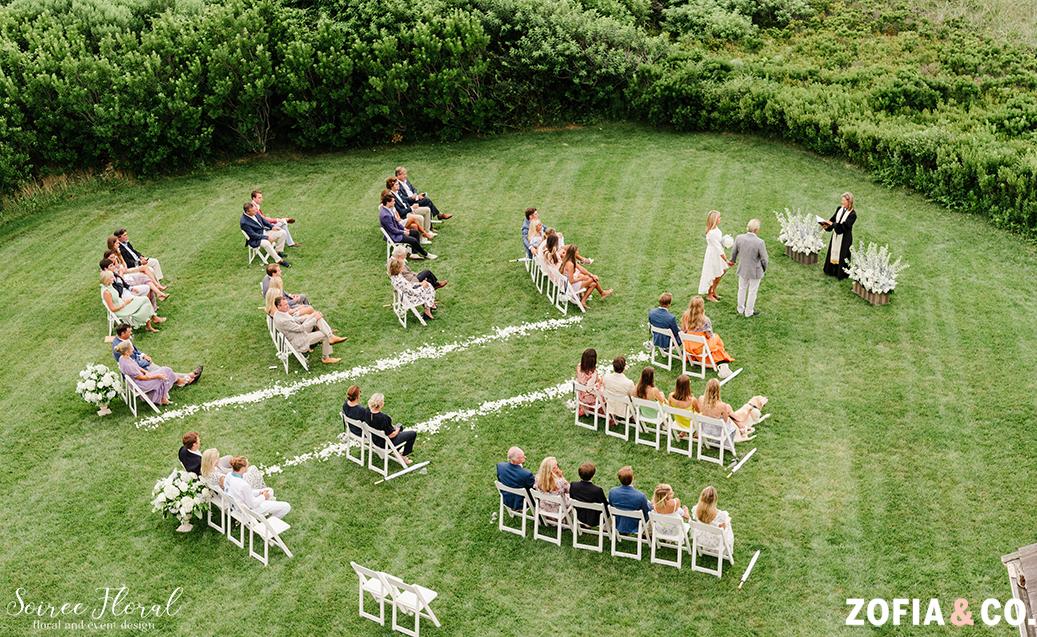 micro wedding seating