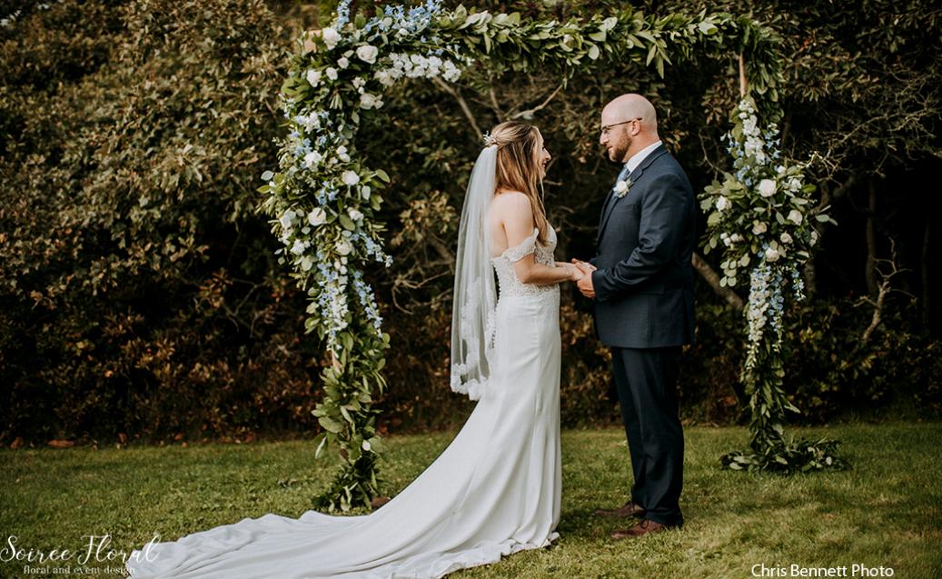 nantucket micro wedding backyard