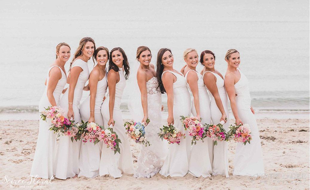 Nantucket Bride & Bridesmaids at Galley Beach